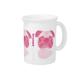 Personalized PINK Grumpy Puggy Pitcher