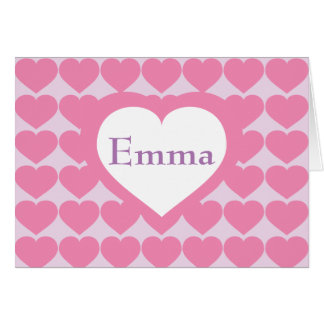 Personalized Pink Heart Brigade Card