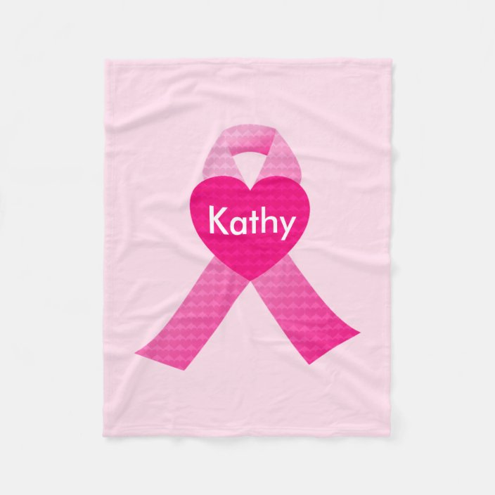 Personalized Custom Breast Cancer Awareness Sherpa Fleece Blanket Fight Cancer
