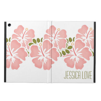 PERSONALIZED PINK HIBISCUS iPad AIR CASE