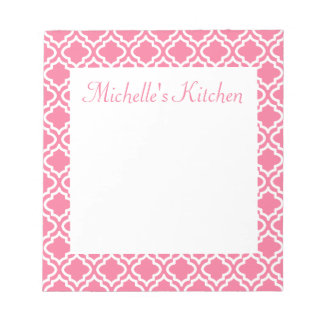 Personalized Pink Kitchen Notepad