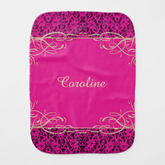 Personalized Pink Lace Baby Cloth
