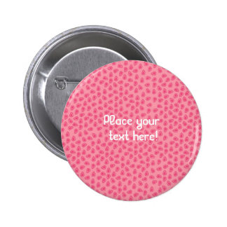 Personalized Pink Leaf Pastel Pins Buttons