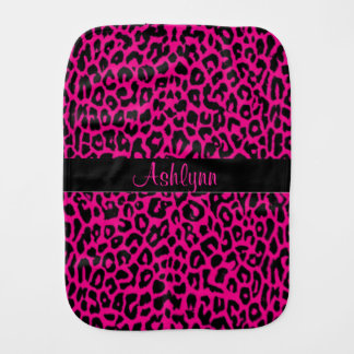 Personalized Pink Leopard Baby Cloth