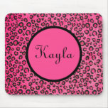Personalized Pink Leopard Mousepad