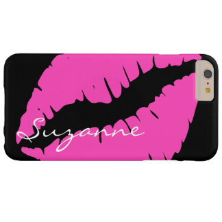 Personalized Pink Lips Barely There iPhone 6 Plus Case