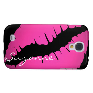 Personalized Pink Lips Print Samsung Galaxy S4 Case