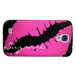 Personalized Pink Lips Samsung Galaxy S4 Cover