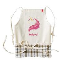 Personalized Pink Magical Unicorn Zazzle HEART Apron