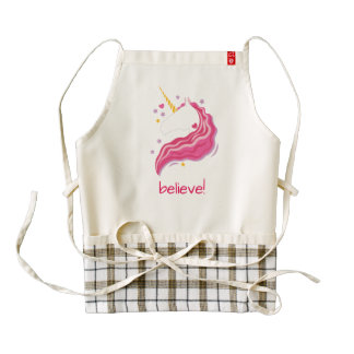 Personalized Pink Magical Unicorn Zazzle HEART Apron