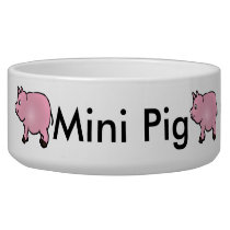Personalized Pink Mini Pig Bowl