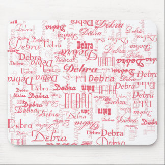 personalized pink names mouse pad