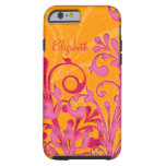 Personalized Pink Orange Floral iPhone 6 case Vibe