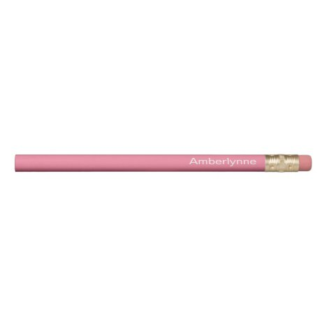 Personalized Pink Pencil