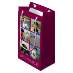 Personalized Pink Photo Mosaic Picture Collage Small Gift Bag