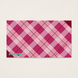 Personalized Pink Plaid Note Business Card