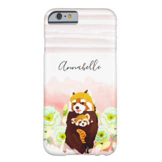 Personalized Pink Red Panda iPhone 6/6s Case