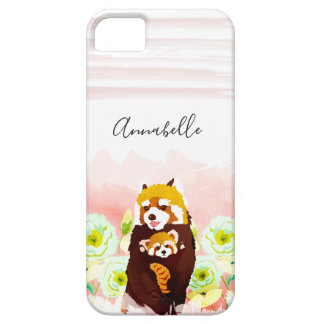 Personalized Pink Red Panda iPhone SE/5/5s Case