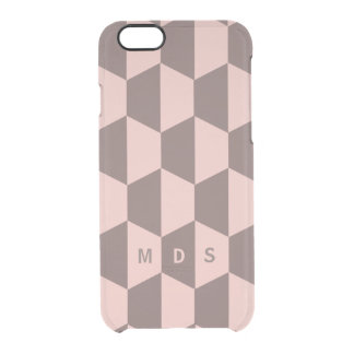 Personalized Pink Rose Trapezoid iPhone 6/6s Case Uncommon Clearly™ Deflector iPhone 6 Case