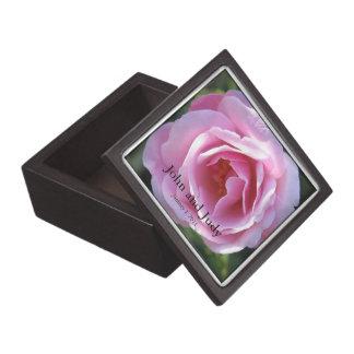 Personalized Pink Rose Wedding Gift Box Premium Gift Boxes