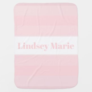 PERSONALIZED PINK SHADES baby blanket