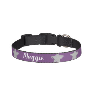 Personalized pink small dog collar