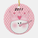 Personalized Pink Snow Princess Ornament