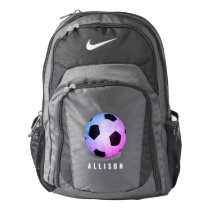 Personalized Pink Soccer Girls Nike Backpack