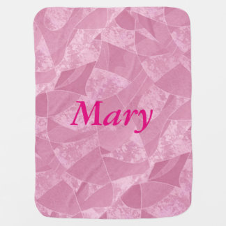 Personalized Pink Stain Glass Baby Blanket