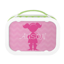 Personalized Pink Superhero Super Girl Lunch Box