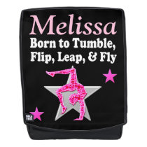 PERSONALIZED PINK TUMBLING GYMNAST BACK PACK