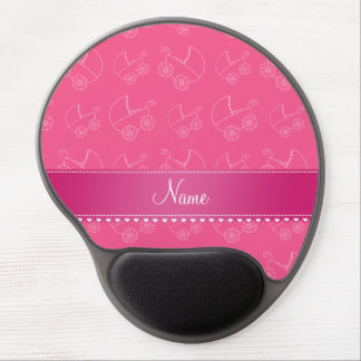 Personalized pink white baby carriages gel mouse pad
