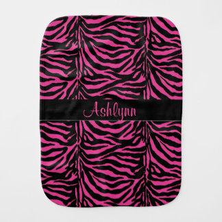 Personalized Pink Zebra Baby Cloth