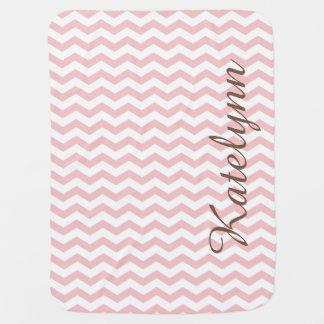 Personalized Pink Zigzag Custom Baby Blanket