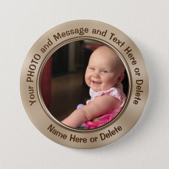 Personalized Pins with Your Photo or Logo and Text
