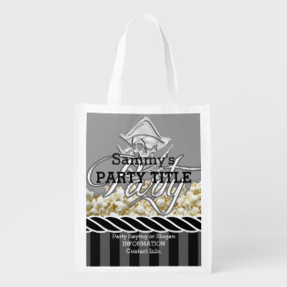 Personalized Pirate Day Party Reusable Grocery Bag