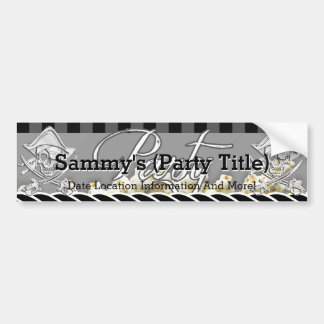 Personalized Pirate Party Bumper Sticker