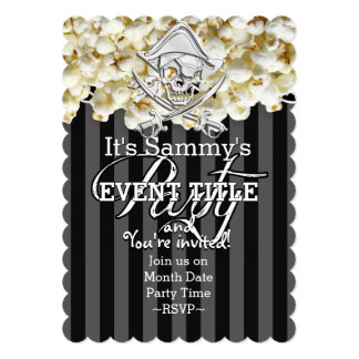 Personalized Pirate Party Card