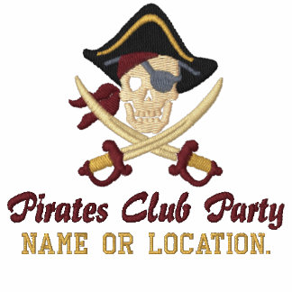 Personalized Pirate Party Embroidery Embroidered Shirts