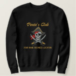 Personalized Pirate Party Embroidery Embroidered Sweatshirt