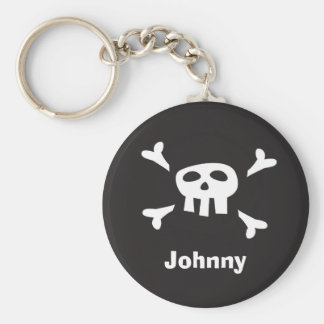 Personalized pirate scull and crossbones keychain