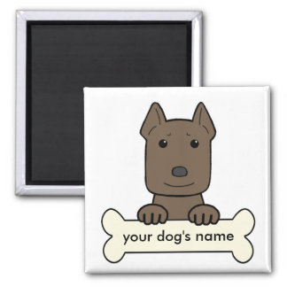 Personalized Pitbull 2 Inch Square Magnet