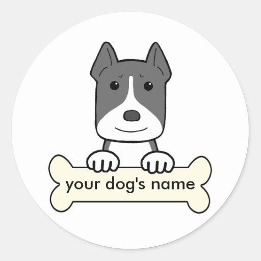 Personalized Pitbull Classic Round Sticker