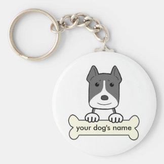 Personalized Pitbull Basic Round Button Keychain