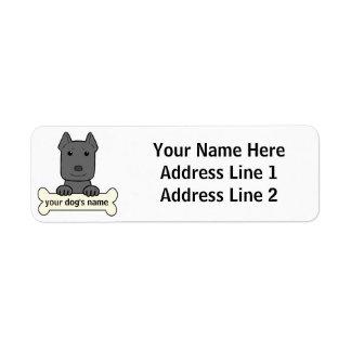 Personalized Pitbull Label