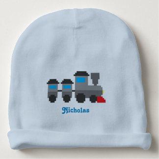 Personalized Pixel Art Style Train Baby Beanie
