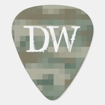 Personalized Pixel Camouflage Guitar Pick by backgroundpatterns at Zazzle
