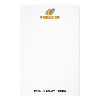 Personalized Pizza Stationery