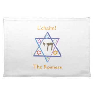 Personalized Placemat - Jewish Family Cloth Placemat