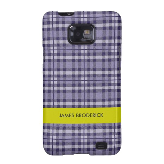 Personalized Plaid Samsung Galaxy Case for Him